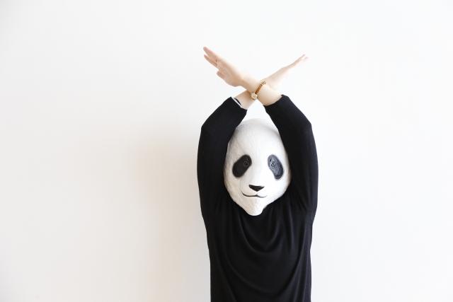 パンダがダメーとしている